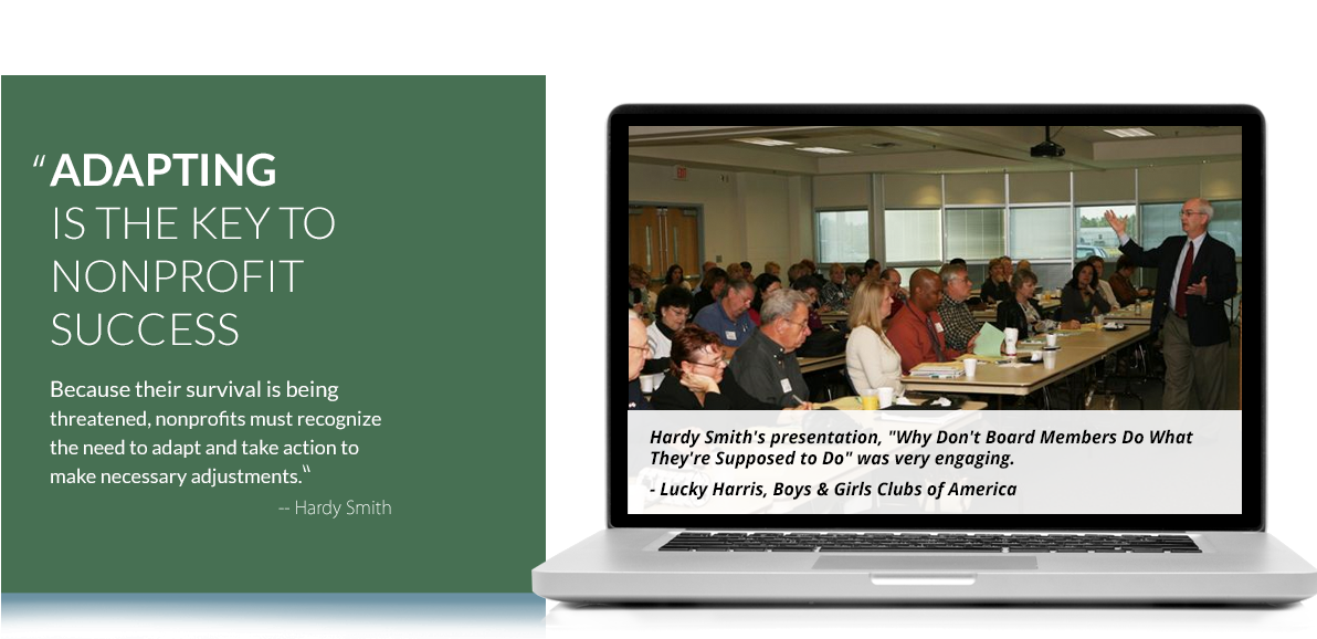 Hardy Smith: Nonprofit and Association Consultant and Motivational Speaker; www.hardysmith.com